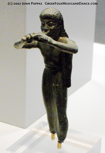 Ancient Avlos Player